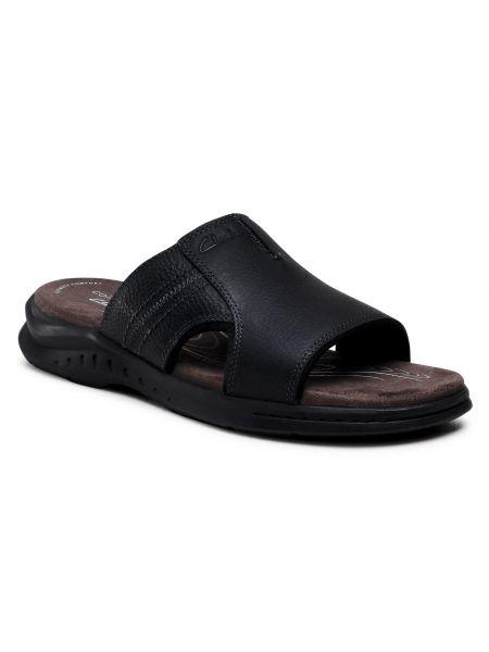 Czarne sandały na lato Clarks