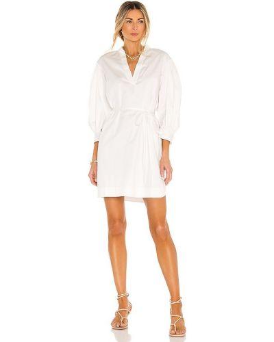 Хлопковое белое купальное платье с манжетами Rebecca Taylor