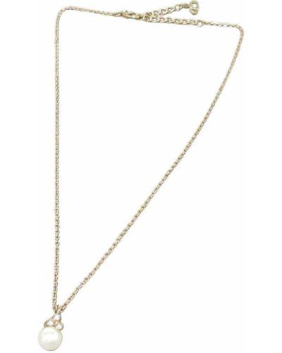 Żółty złoty naszyjnik łańcuch Dior Vintage