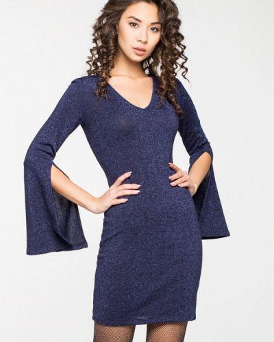 Вечернее платье осеннее синее Itelle