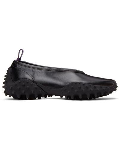 Кожаные черные слипы на каблуке Eytys