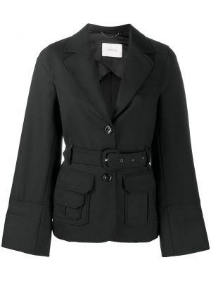 Шерстяная черная куртка с поясом Dorothee Schumacher