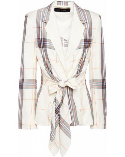 Белый пиджак с подкладкой из вискозы Roland Mouret
