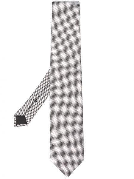 Серебряный шелковый галстук с подкладкой Tom Ford