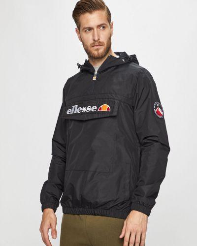 Куртка с капюшоном укороченная черная Ellesse