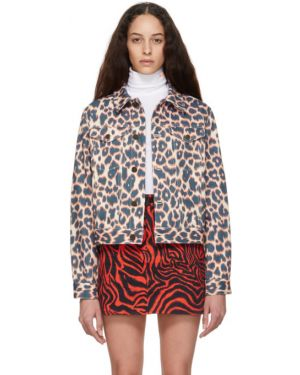 Кожаная куртка джинсовая длинная Calvin Klein 205w39nyc