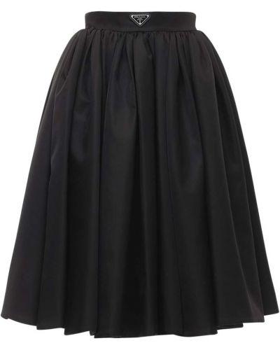 Юбка с завышенной талией - черная Prada