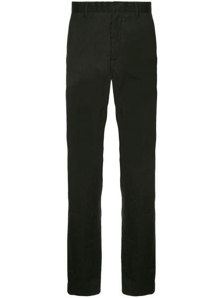 Хлопковые классические черные классические брюки с карманами Cerruti 1881
