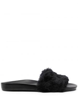 Czarne sandały skórzane Schutz