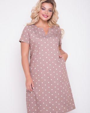Платье мини с V-образным вырезом платье-сарафан тм леди агата
