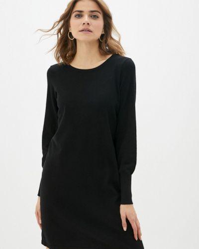 Вязаное черное платье Ichi