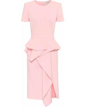 Платье мини розовое миди Alexander Mcqueen