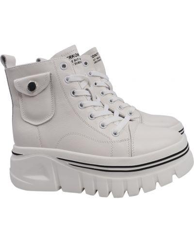 Кожаные ботинки - белые Berkonty