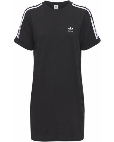Черное платье-рубашка Adidas Originals