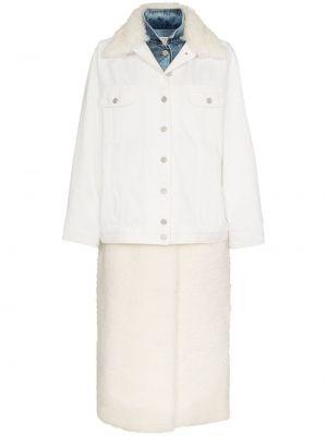 Кожаная куртка из овчины - белая Natasha Zinko