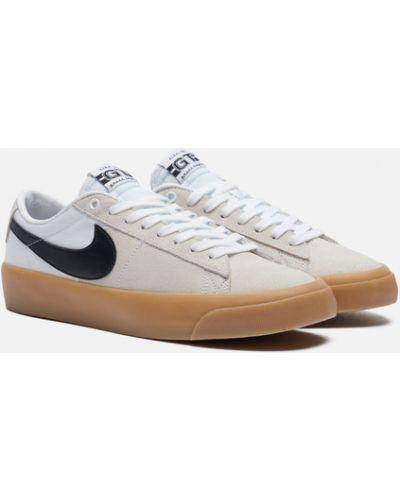Бежевые текстильные кроссовки Nike Sb