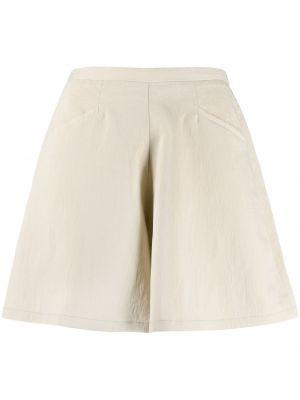 Хлопковые с завышенной талией шорты с поясом Forte Forte