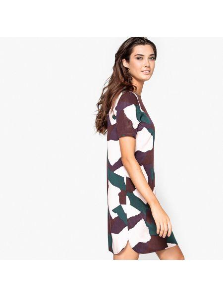 Платье мини прямое с декольте La Redoute Collections