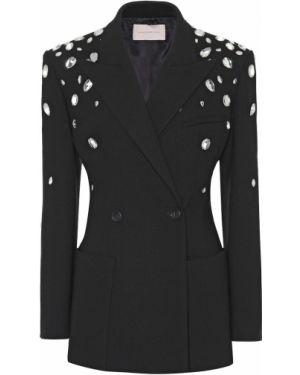 Классический пиджак черный шерстяной Christopher Kane