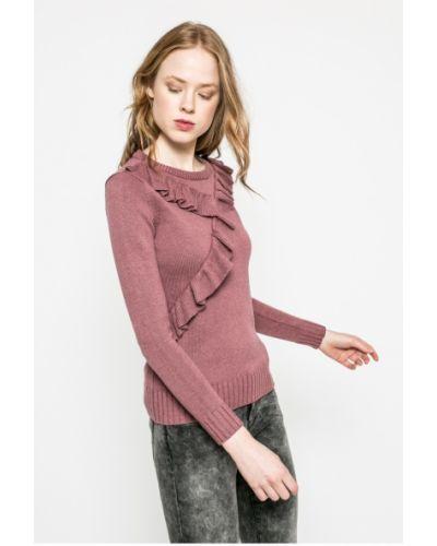 Розовый свитер с рюшами Vila