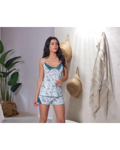 Пижамные шорты на бретелях в цветочный принт Sevim