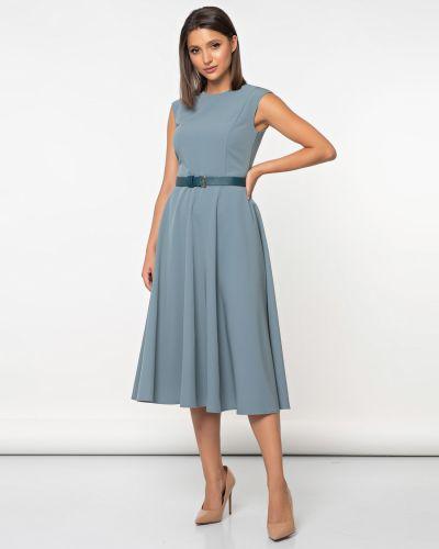 Приталенное нарядное с рукавами платье миди Jetty