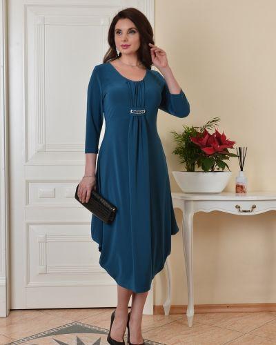 Приталенное нарядное трикотажное платье Salvi-s
