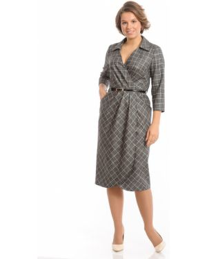 Платье миди с запахом с V-образным вырезом Merlis