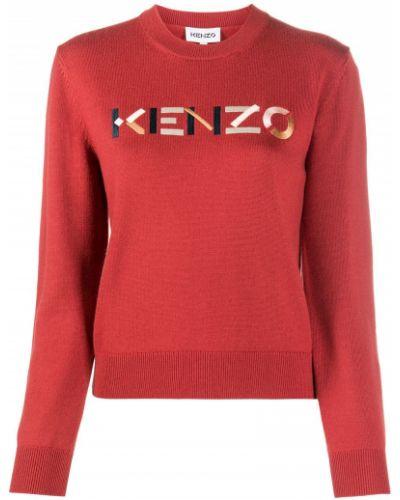 Вязаный джемпер - красный Kenzo