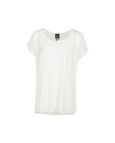 Белая футболка из вискозы Persona By Marina Rinaldi