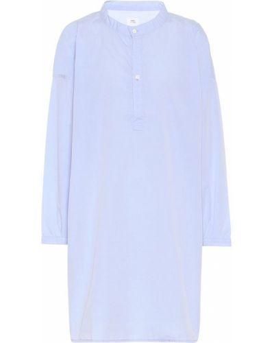 Ватная хлопковая синяя рубашка Visvim