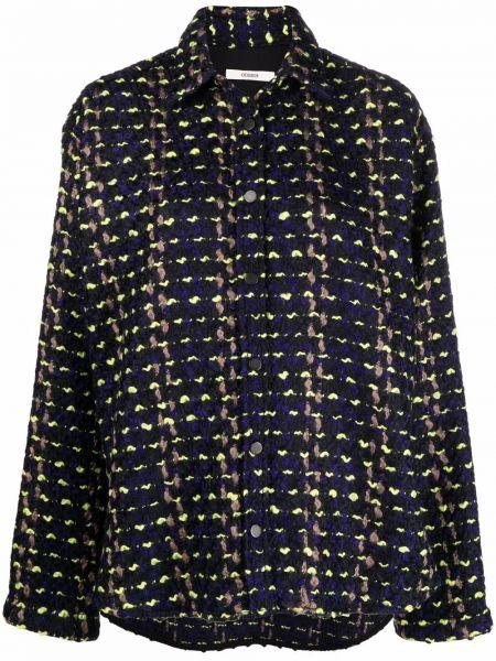 Длинная куртка - синяя Odeeh