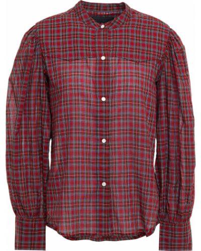 Хлопковая красная рубашка с манжетами Nili Lotan