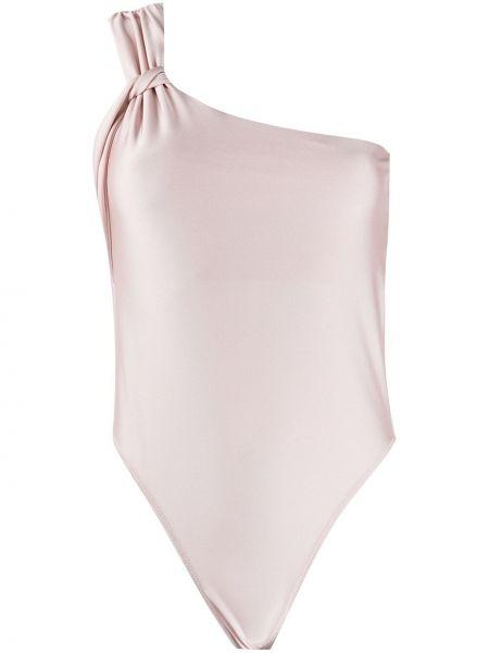 Розовое боди на одно плечо без рукавов Patrizia Pepe