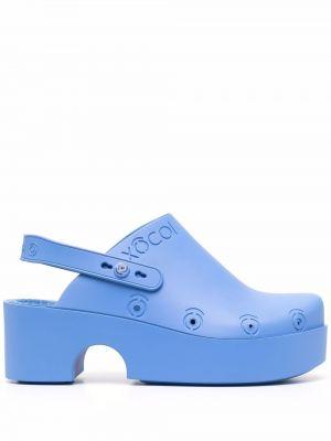 Синие туфли на каблуке на платформе Xocoi