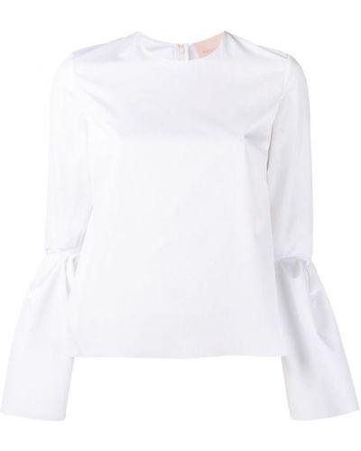 Блузка прямая с рукавом-колоколом Roksanda