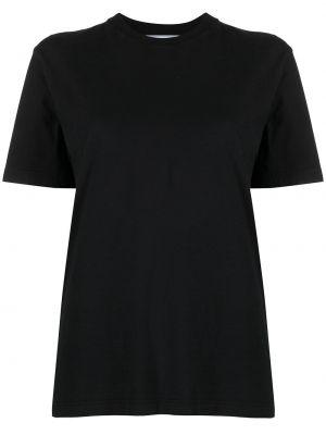 Прямая белая футболка с вырезом Off-white