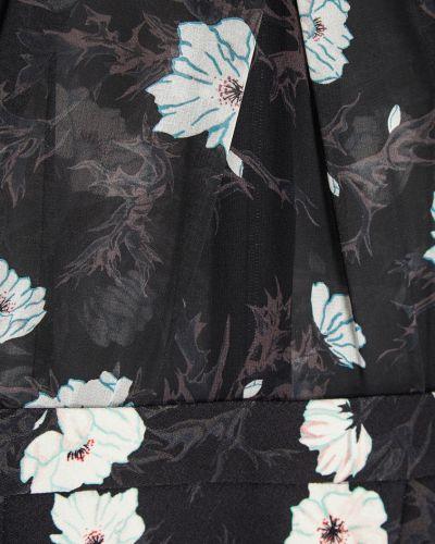 Платье с поясом с цветочным принтом с воротником Carven