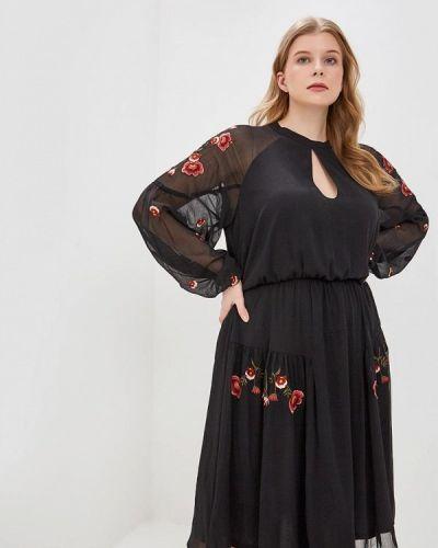 Повседневное платье весеннее индийский Lost Ink Plus