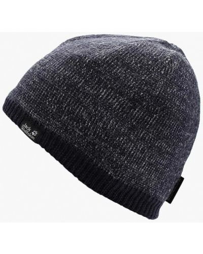 Синяя шапка осенняя Jack Wolfskin