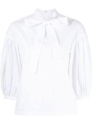 Хлопковая блузка на молнии с бантом Comme Des Garçons Comme Des Garçons