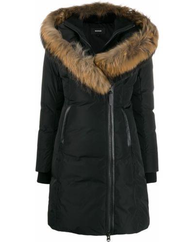 Пальто с капюшоном шерстяное с опушкой Mackage
