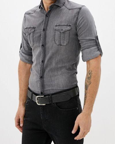 Джинсовая рубашка серая Young & Rich