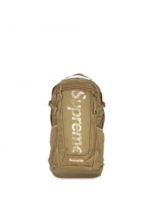 Beżowy plecak z printem Supreme