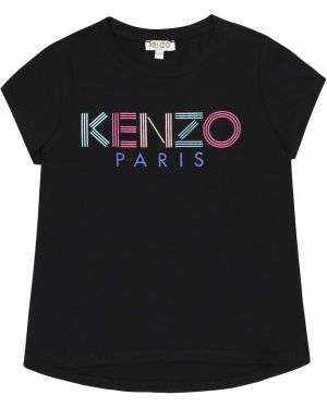 Czarny t-shirt bawełniany Kenzo Kids