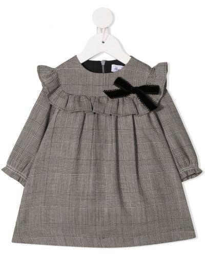 Серое платье макси с длинными рукавами круглое из вискозы Tartine Et Chocolat