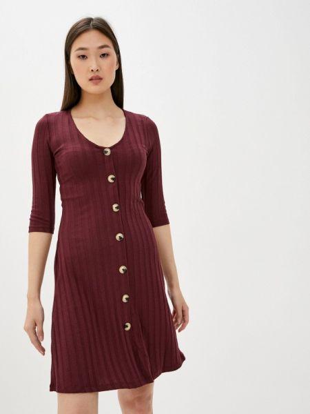 Платье бордовый прямое Defacto