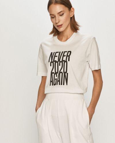 Biały t-shirt bawełniany na co dzień Undiz