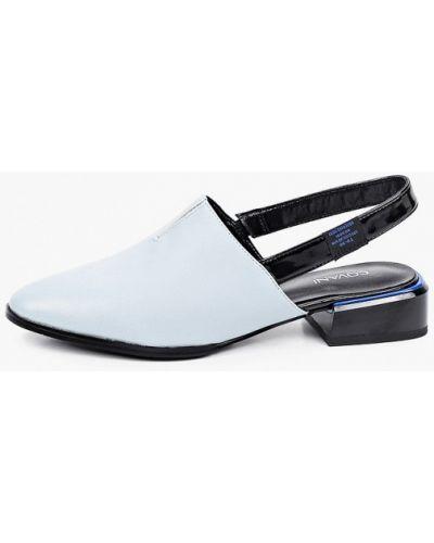 Кожаные туфли с открытой пяткой Covani