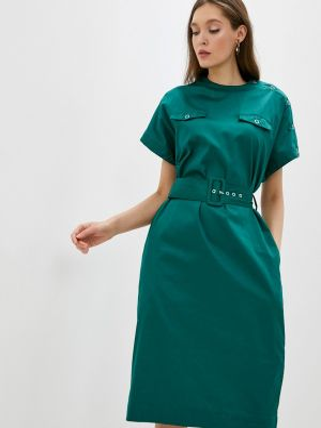 Платье бирюзовый прямое Incity